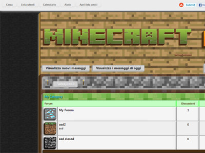 MPC minecraft mybb theme